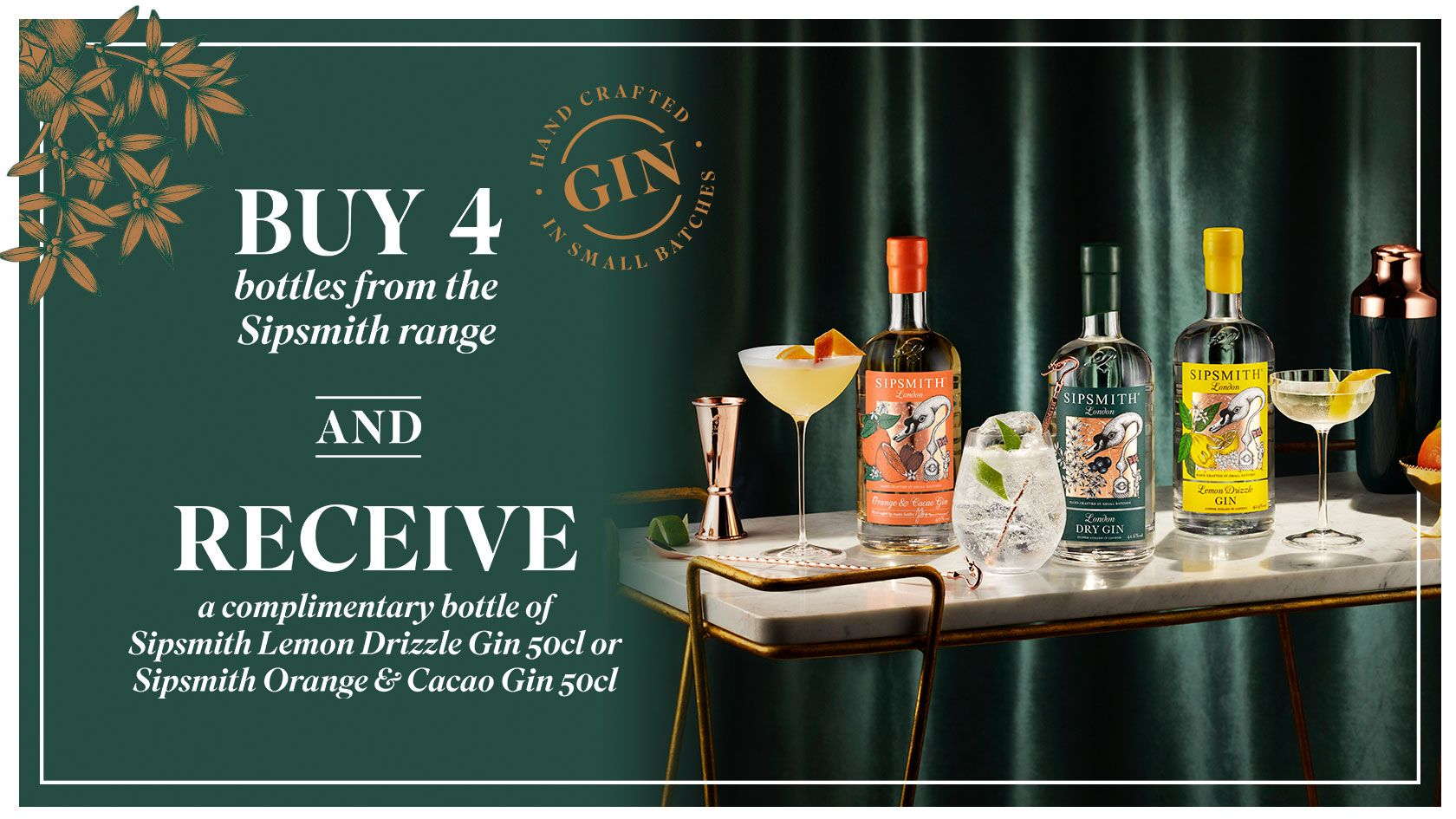 SIPSMITH GIN OFFER